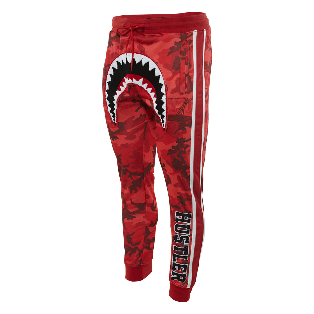 Hudson Camo Shark Mouth Sweatpant Mens Style : H4052539-Red