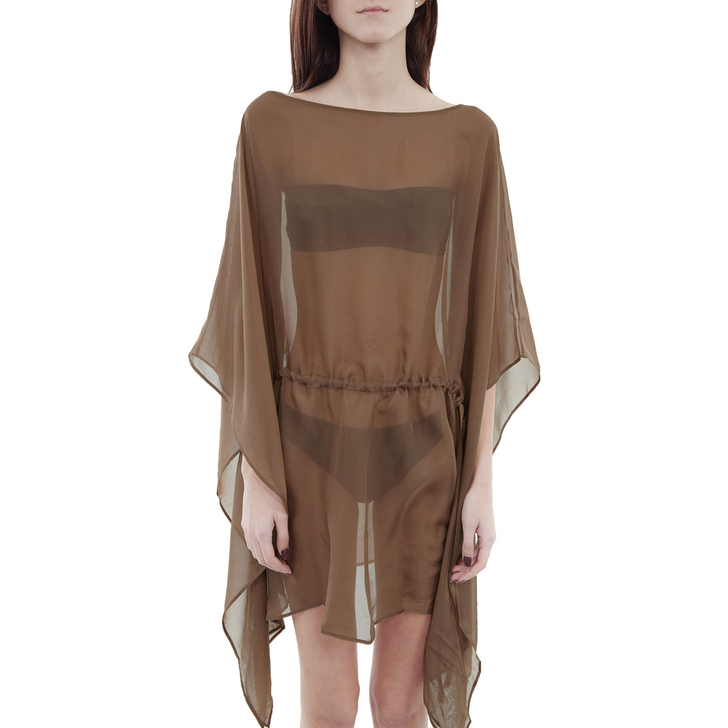 La Perla Caftano Corto Brown Beach Cover Up Womens Style : 0020385-0080