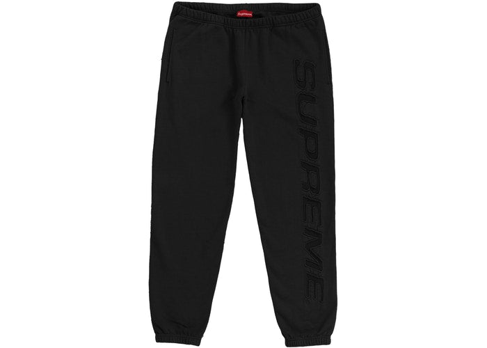 Supreme Set In Logo Sweatpant Mens Style : Ss19sw73-BLACK