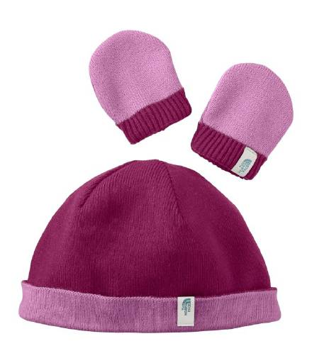 North Face Baby Boo Reversible/Beanie & Mitten Set  Style # APDH