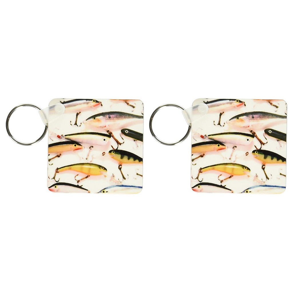 3d Rose Fly fishing Lures - Key Chains, 2.25 x 4.5 inches, set of 2