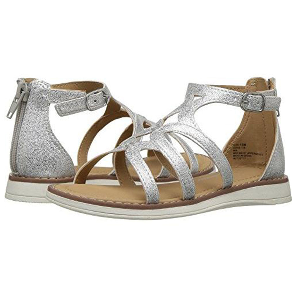 Hanna Andersson Vera Girl's Gladiator Sandal(Toddler/Little Kid/Big Kid), Silver, 10 M US Toddler