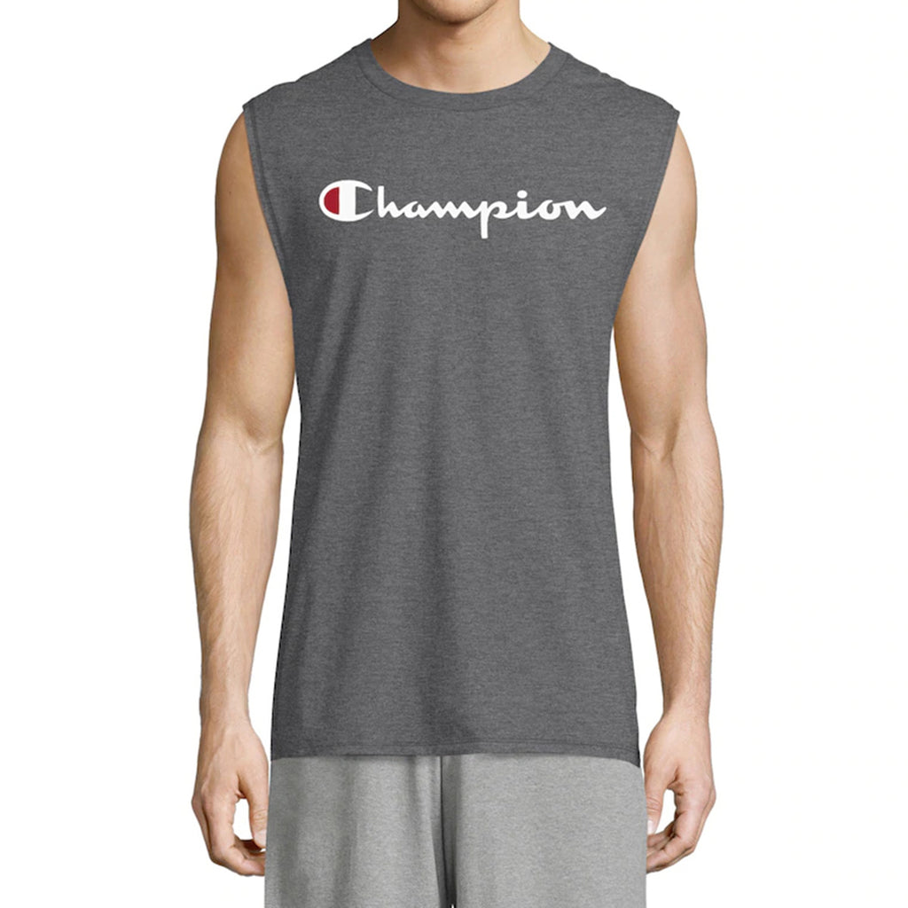 Champion Classic Jersey Muscle Tee, Script Logo Mens Style : Gt22h