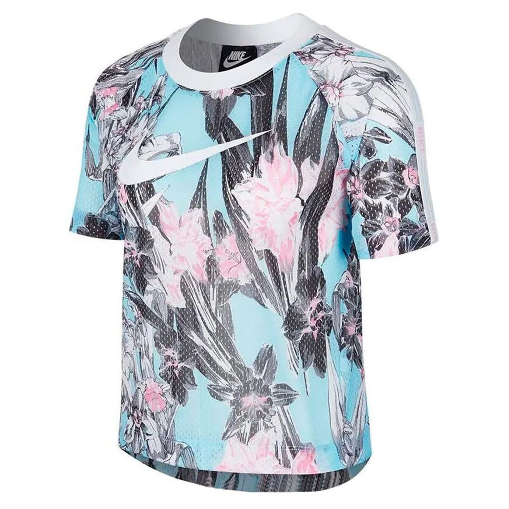 Nike Perforated Floral Top Womens Style : Ar2205