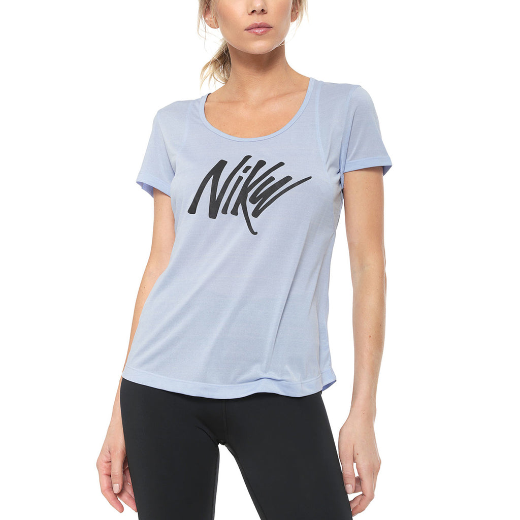 Nike Open Back Graphic Tee Womens Style : Aj8239