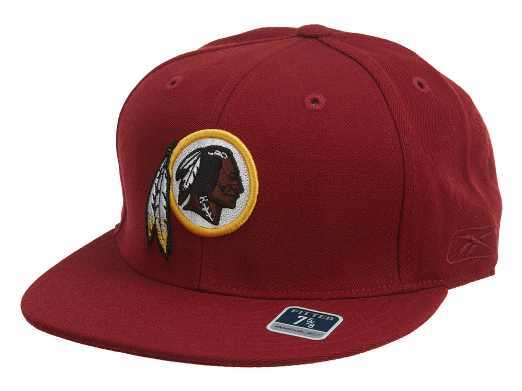 Reebok NFL Team Prim Color Washington Redskins Fitted Cap Mens Style : TS696