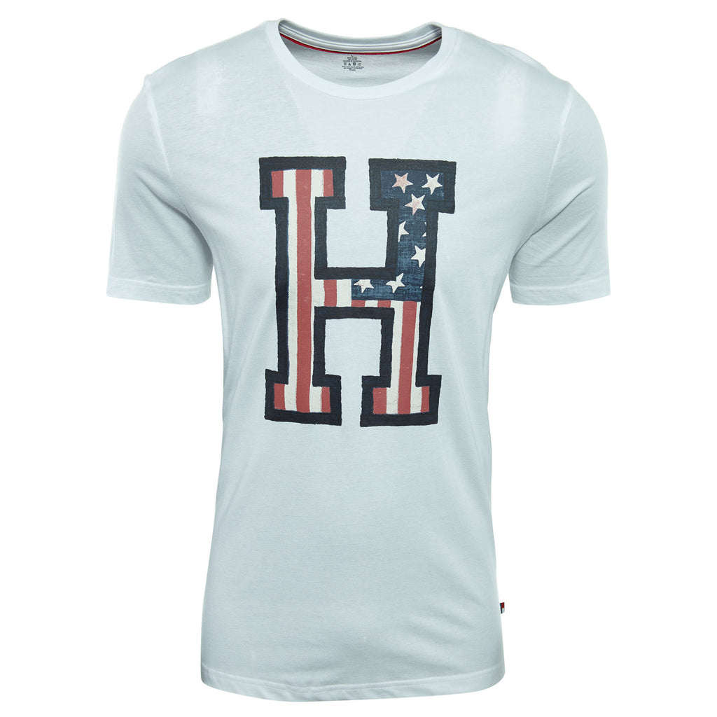Tommyhilfiger Short Sleeve Crew Neck H Flag Graphic Tee Mens Style : 09t3095
