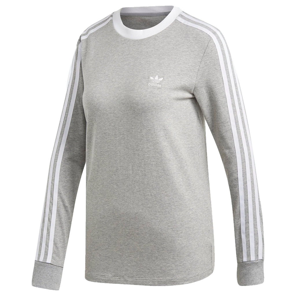 Adidas 3-stripes Long Sleeve Tee Womens Style : Dv2591