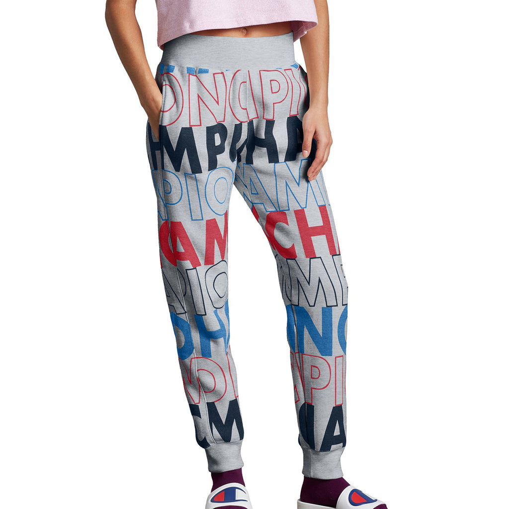 Champion Reverse Weave Jogger-big Block Text Aop Womens Style : Ml777p