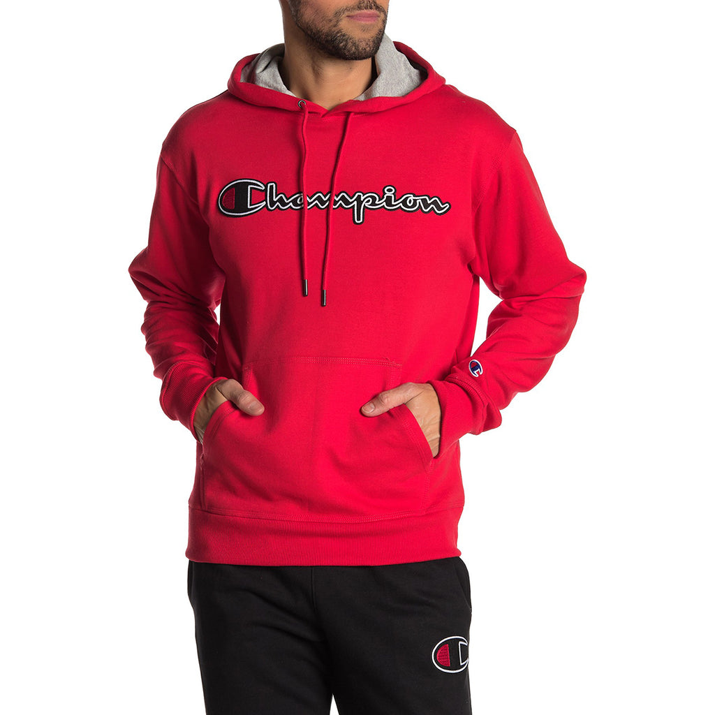 Champion Fleece Pullover Hoodie Mens Style : Gf89hy07416