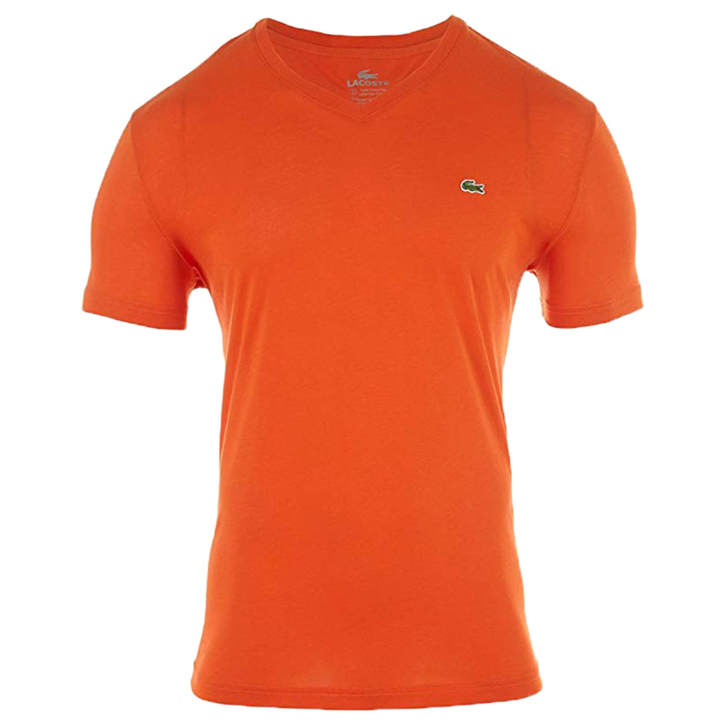Lacoste Short Sleeve Pima Jersey V neck T-shirt Style # TH6604-51