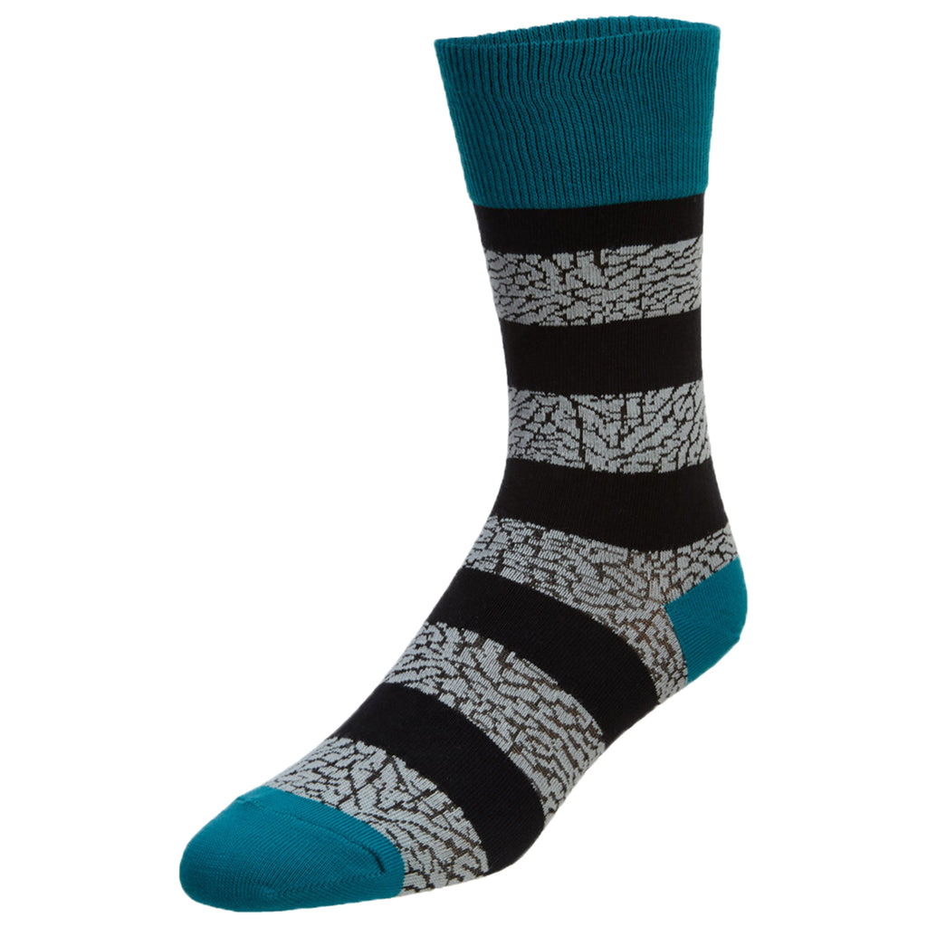 Jordan Elephant Striped Crew Socks Unisex Style : 647688