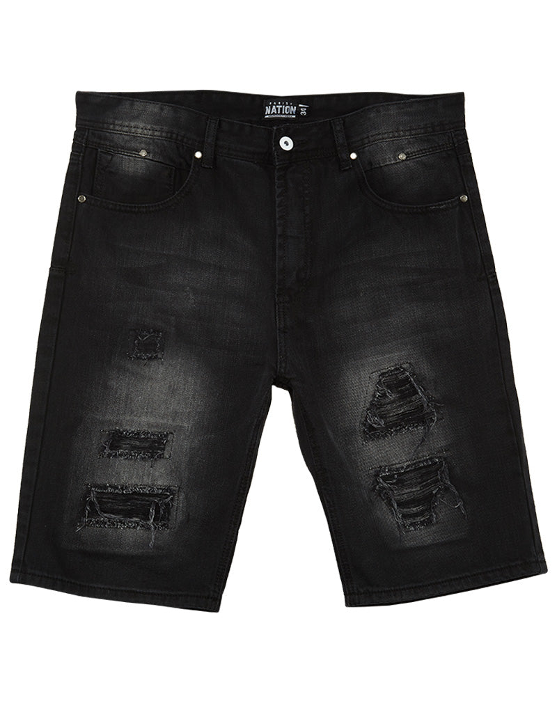 Parish Nation  Black Denim Shorts Mens Style : N05d5771