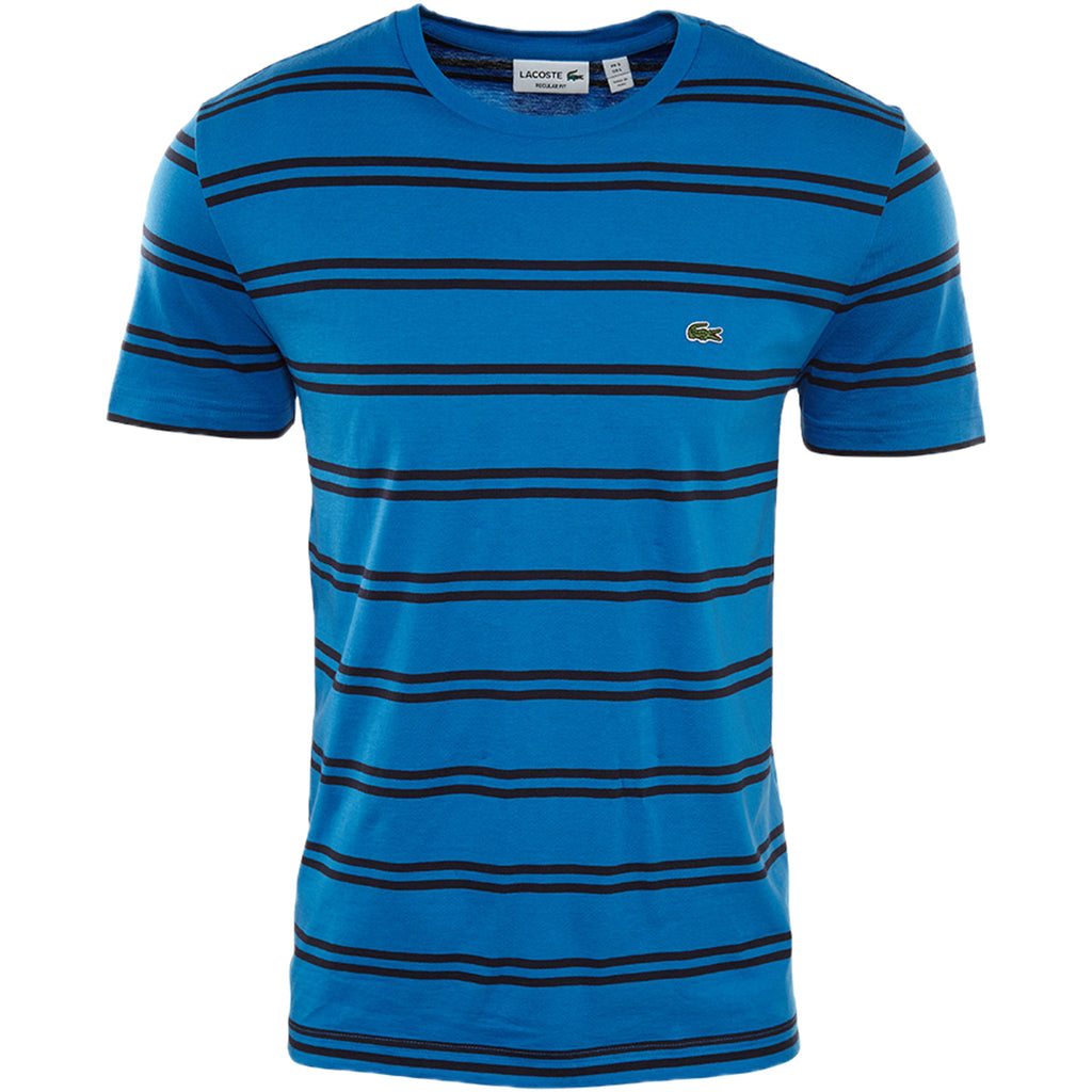 Lacoste Double Stripe Crewneck Tee Mens  Th2708-51