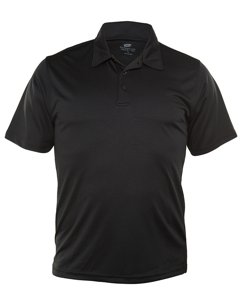 Ultra Club Cool & Dry Elite Interlock Performance Polo T-Shirt Mens Style : 8410