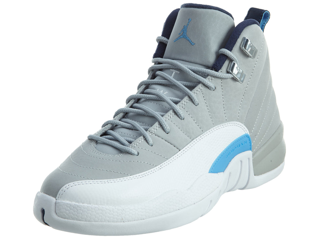 "Air Jordan 12 Retro Bg (gs) ""unc"" - wlf gry Boys / Girls Style :153265"