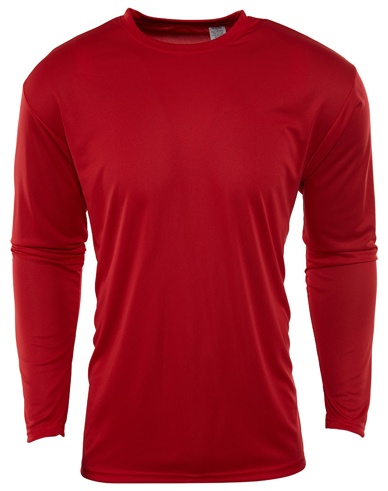 A4 Cooling Performance Long Sleeve Crewneck Blank T-Shirt Mens Style : N3165