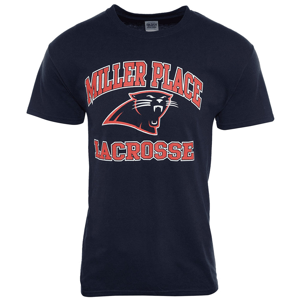 Gildan Miller Place Lacrosse Panther Face T-Shirt Mens Style : RN93846 Y