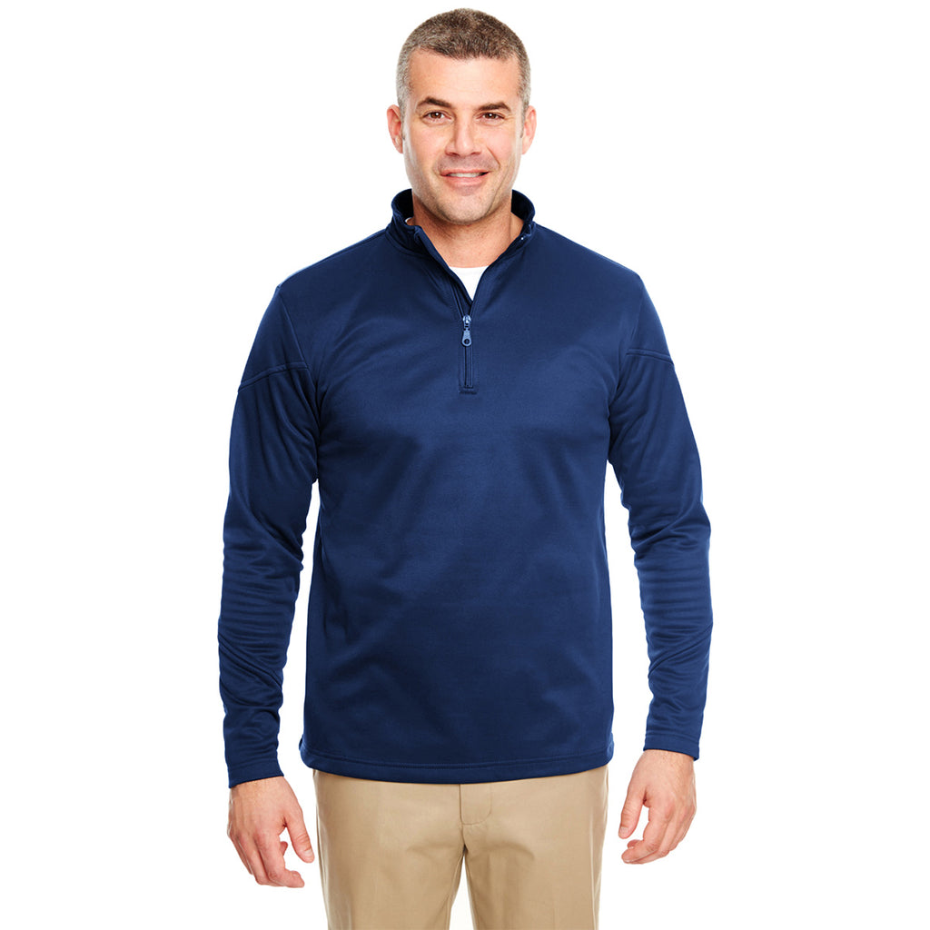 Ultra Club Adult Cool & Dry Sport 1/4 Zip Pullover Fleece Mens Style : 8440