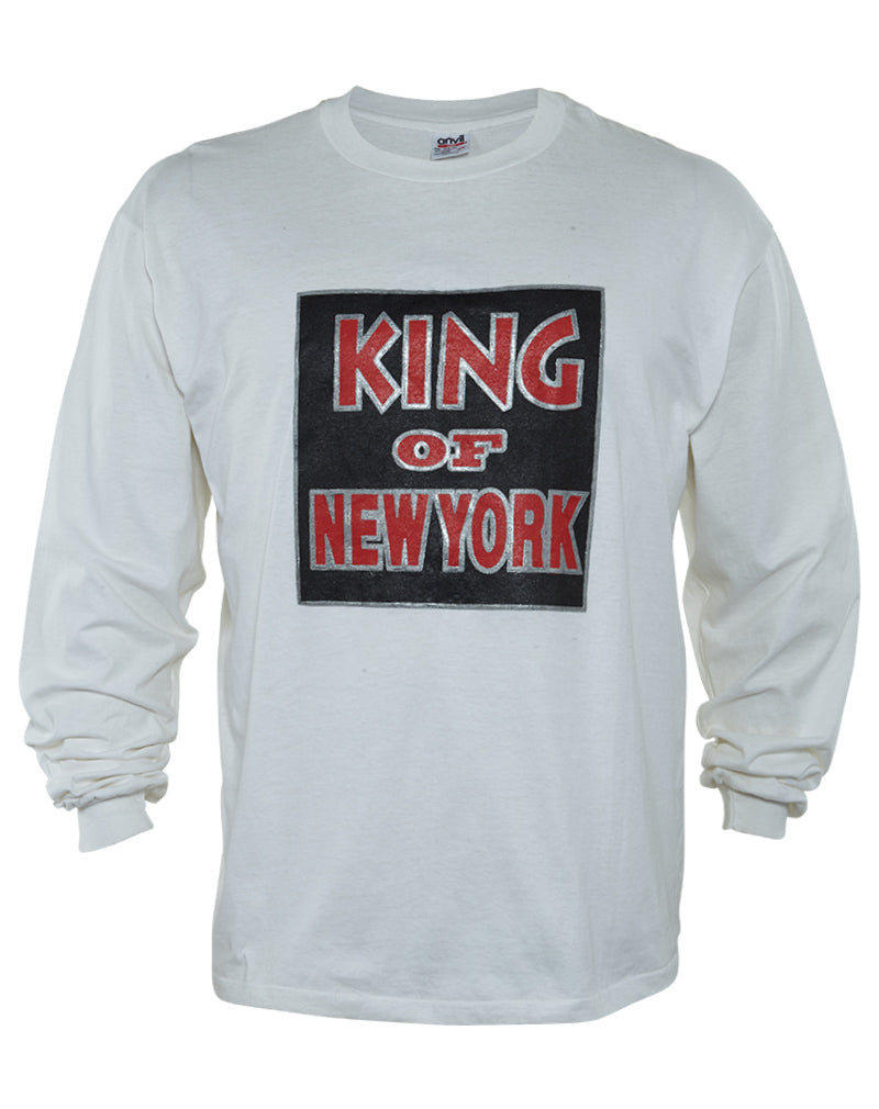 Anvil Organic King Of New York Long Sleeve Crewneck T-shirt Mens Style :