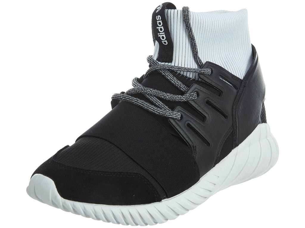 Adidas Tubular Doom Mens BA7555 Black White TwoTone Knit Mens Style :BA7555