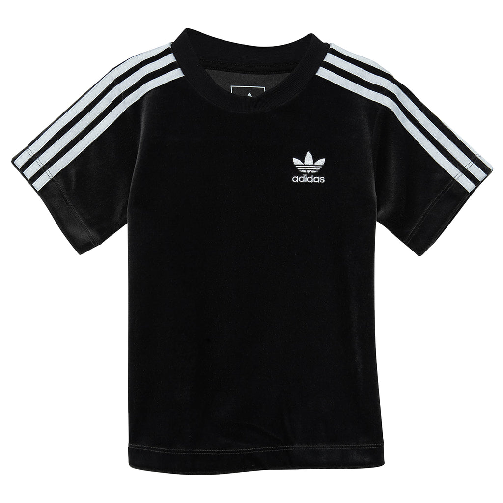 Adidas Infant Velour 3 Stripes Tee Toddlers Style : Bq4444