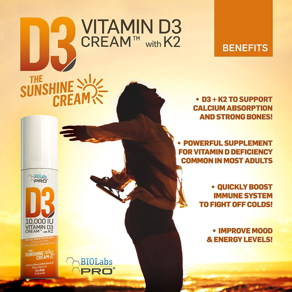 BIOLabs PRO® D3 10,000 IU Vitamin D Cream - BIOLabs PRO® - Smarter Health  And Aging™