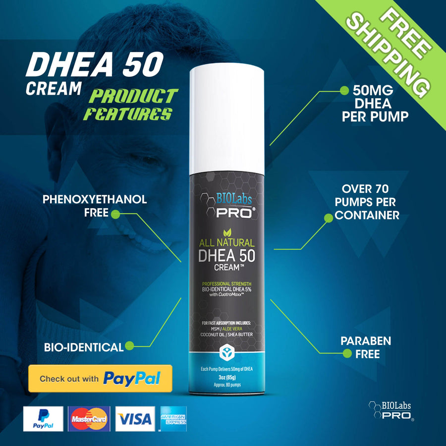 BIOLabs PRO® All Natural 50mg Dhea Cream (Lavender)