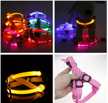 LED Dog Harness Pink Red Blue Orange Yellow Purple Safety Night Walks Cool LED Tech Products