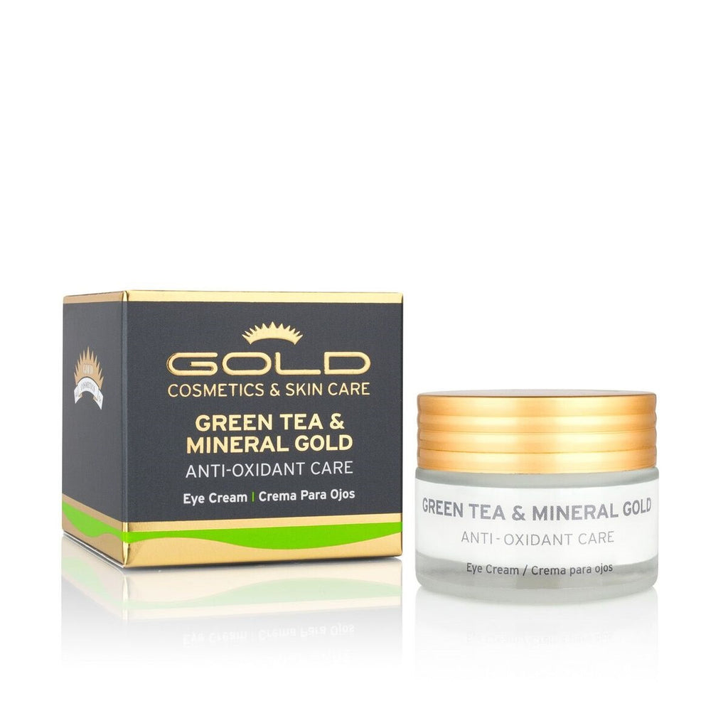 GREEN TEA & MINERAL GOLD EYE CREAM - Gold Cosmetics & Skin Care