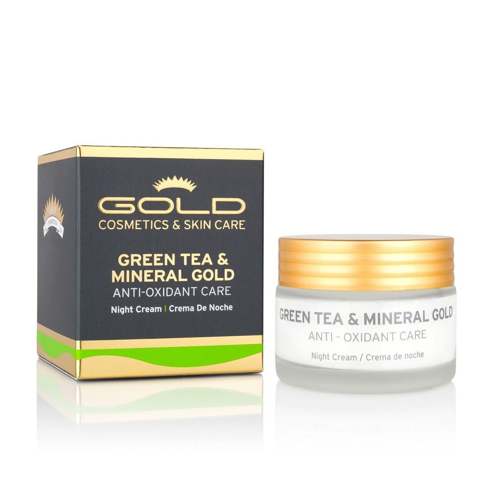 GREEN TEA & MINERAL GOLD NIGHT CREAM - Gold Cosmetics & Skin Care