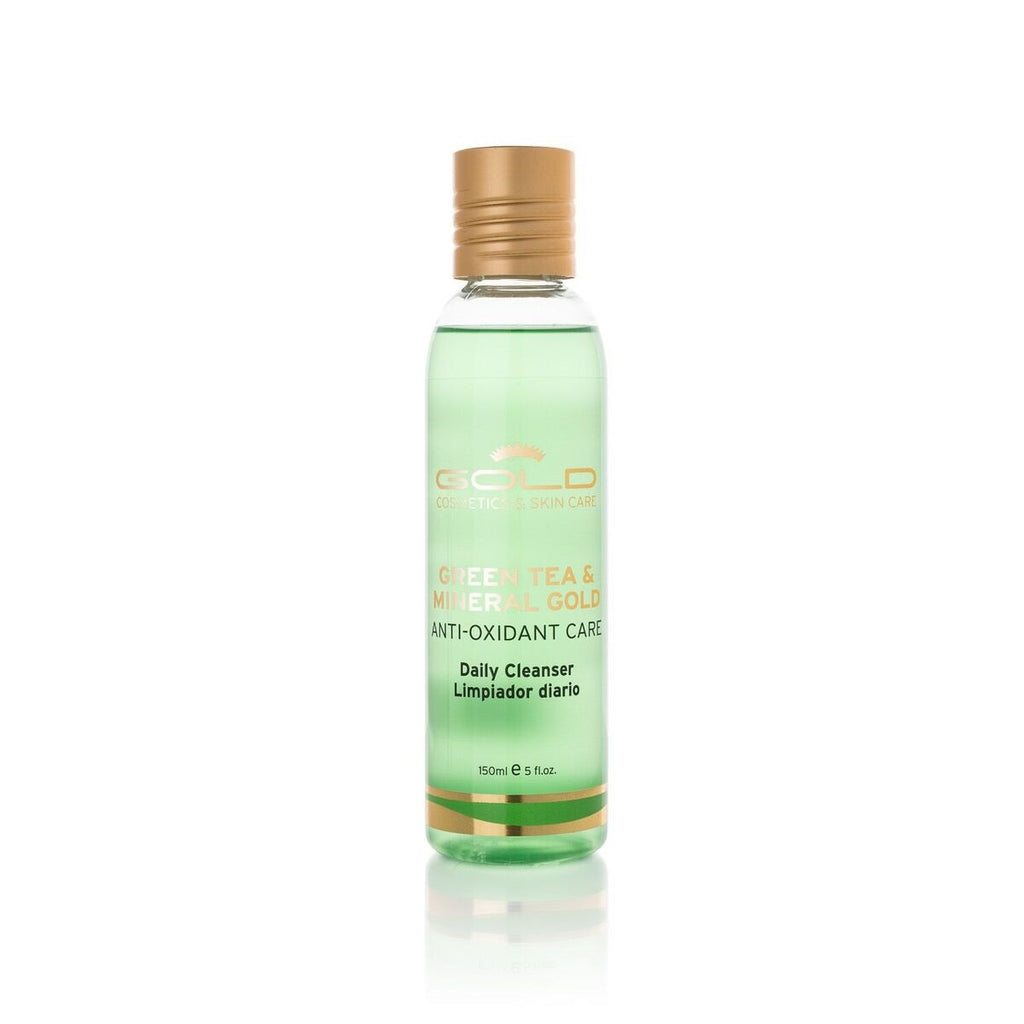 GREEN TEA & MINERAL GOLD DAILY CLEANSER - Gold Cosmetics & Skin Care