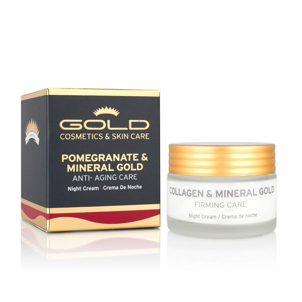 Pomegranate & Mineral Gold Night Cream - Gold Cosmetics & Skin Care