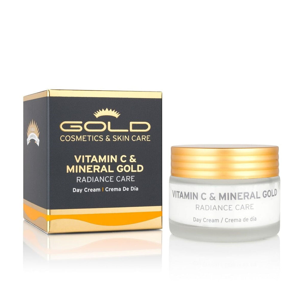 VITAMIN C & MINERAL GOLD  DAY  CREAM - Gold Cosmetics & Skin Care