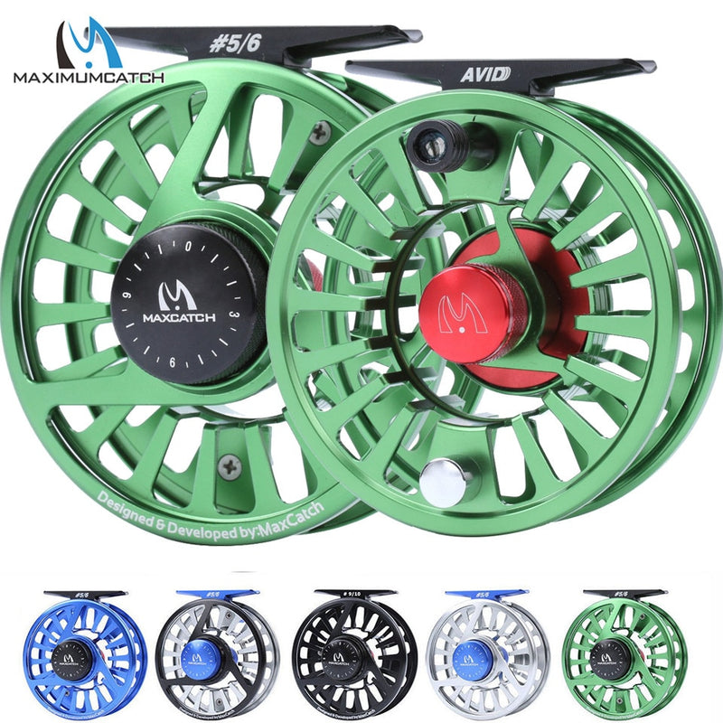Micro Adjusting Drag Fly Fishing Reel and Spool