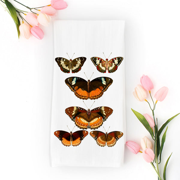 Butterflies Tea Towel available at Viola Joyner Creative