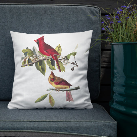 Red Cardinals Decorative Throw Pillow