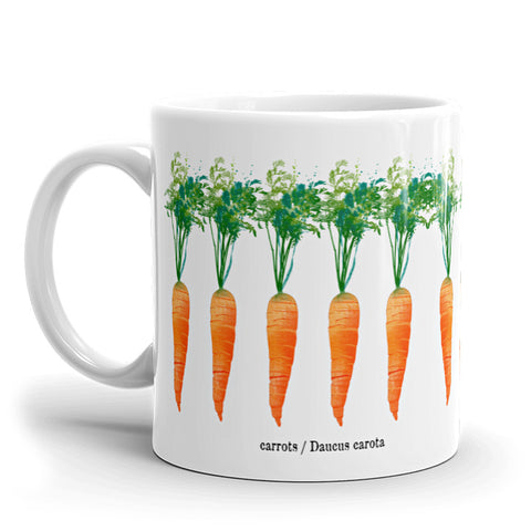 Watercolor Carrots Coffee Mug available at VJ Creative Lifestyle