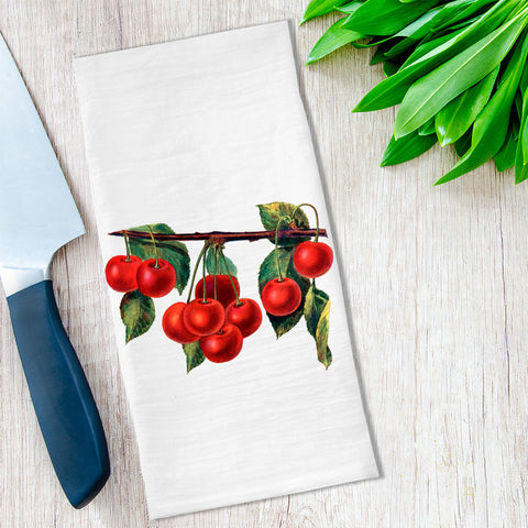 Cherries Tea Towel available at Viola Joyner Creative