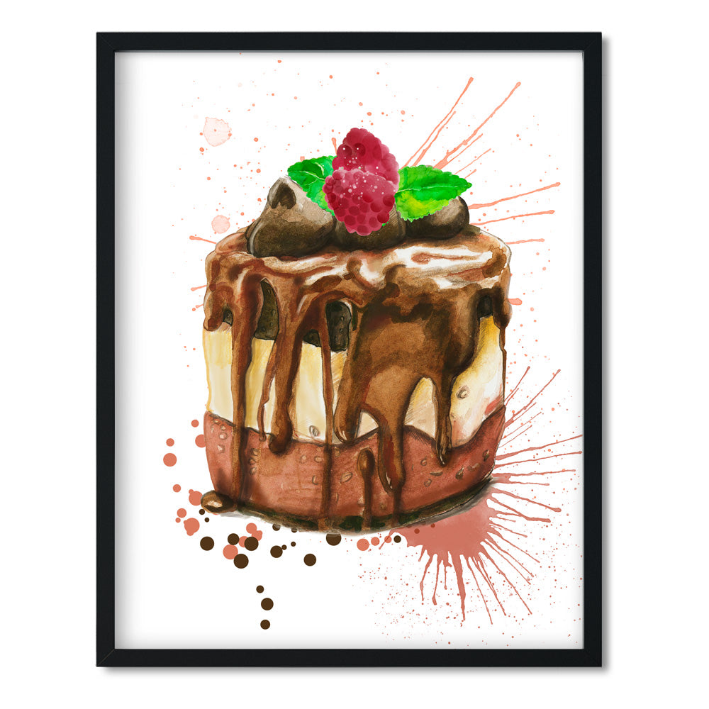 Chocolate Ice Cream Cake Art Print