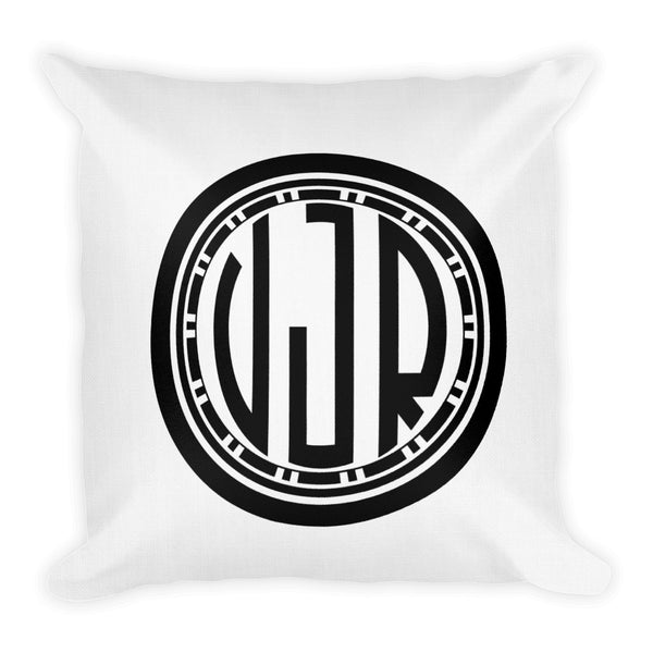Circle Monogrammed Decorative Throw Pillow available at VJ Creative Lifestyle
