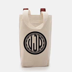 Cotton Canvas Wine Tote Bag available at Viola Joyner Creative