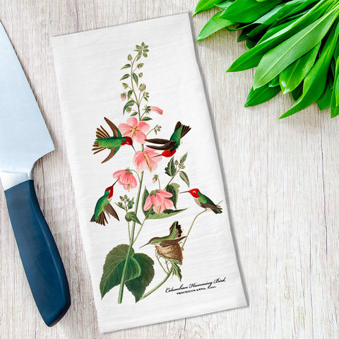 Hummingbirds Tea Towel available at Viola Joyner Creative