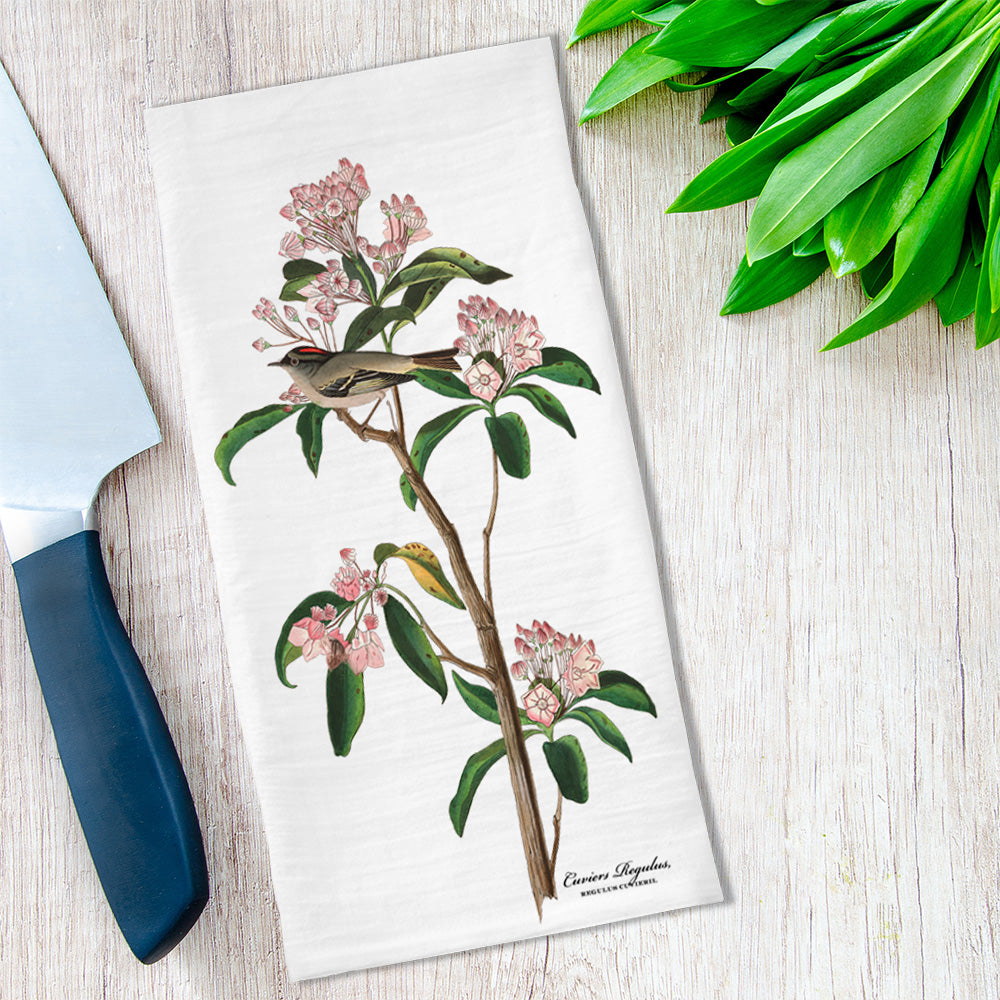 Audubon Botanical and Bird Tea Towel available at Viola Joyner Creative