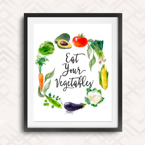 Eat Your Vegetables Kitchen Wall Decor
