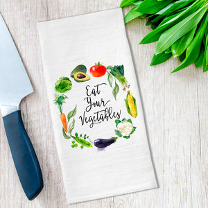 Eat Your Vegetables Tea Towel available at Viola Joyner Creative