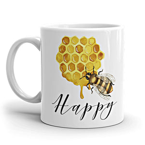 Honey Bee Happy Coffee Mug available at VJ Creative Lifestyle