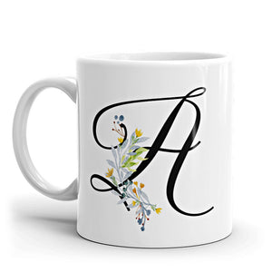 Monogrammed Floral Coffee Mug available at VJ Creative Lifestyle