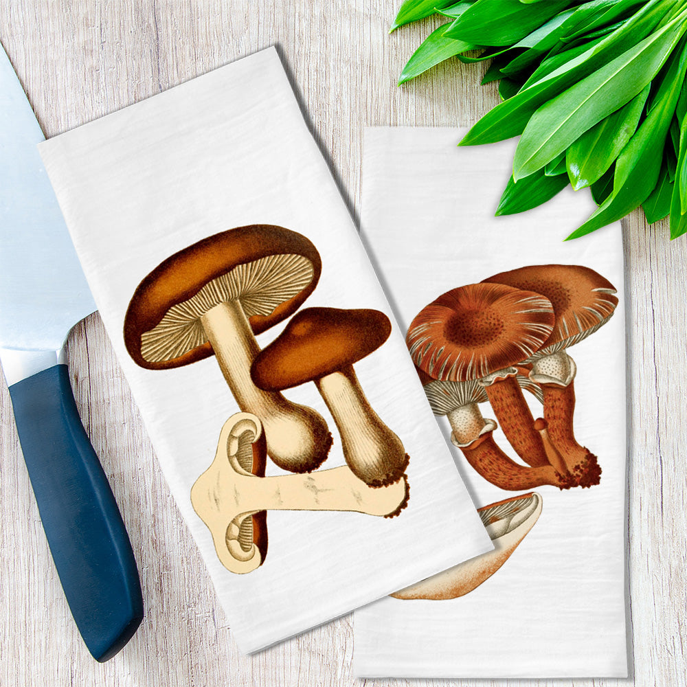 Mushrooms Tea Towel available at Viola Joyner Creative