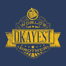 World's Okayest Brother vintage t-shirt design